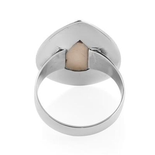 Royal Bali Collection - Mother of Pearl Ring in Sterling Silver, Silver wt. 4.42 Gms