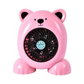 Cute Portable Pink Bear Heater Fan - 360W - 19cm High