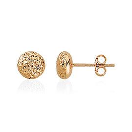 JCK Vegas Collection 9K Rose Gold Diamond Cut Ball Stud Earrings (with Push Back)