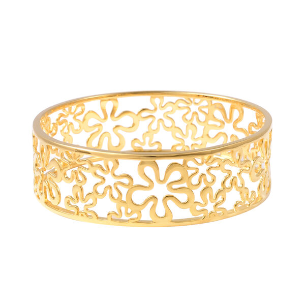 LucyQ Splash Bangle in Gold Plated Sterling Silver 27.61 Grams 7.5 Inch