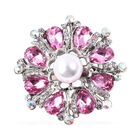 Simulated Pearl (Rnd), Simulated Pink Sapphire, Simulated Mystic White Crystal and White Austrian Cr