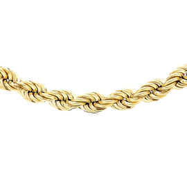 Hatton Garden Close Out 9K Yellow Gold Hollow Rope Chain (Size 30) with Spring Ring Clasp, Gold wt.