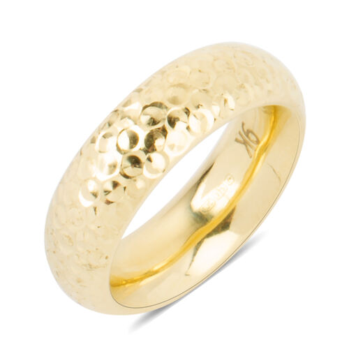 9K Yellow Gold Diamond Cut Chunky Band Ring, Gold wt.2.86 Gms.