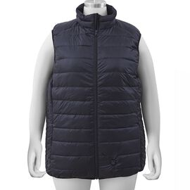 Japanese Heating Wire Down Puffer Vest with 3 Heat Setting in Black
