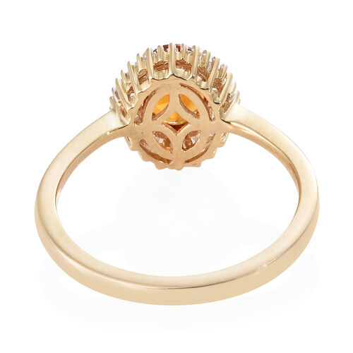 9K Yellow Gold AAA Madeira Citrine (Ovl), Diamond Ring