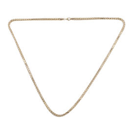 9K Yellow Gold Spiga Necklace (Size - 22) with Impex Lobster Clasp Findings, Gold Wt 9.70 Gms