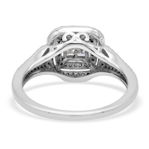 NY Close Out Deal- 10K White Gold White Diamond (I3/G-H) Ring 0.50 Ct.