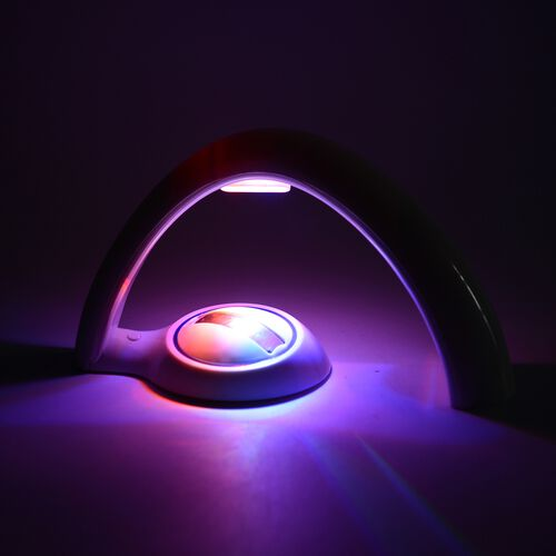 White and Blue Colour Rainbow Light Projector LED Table Lamp