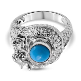 Royal Bali Collection Arizona Sleeping Beauty Turquoise Ring in Sterling Silver 1.350 Ct., Silver Wt