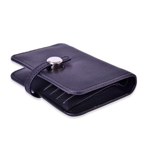 Set of 2 - Boston Dazzling Black Large Wallet (Size 13.5x9 Cm) and Small Wallet (Size 11x7.5 Cm)