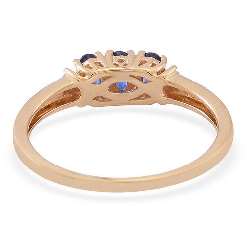 ILIANA 18K Y Gold AAA Ceylon Sapphire (Ovl), Diamond Ring 1.000 Ct..