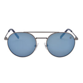 TIMBERLAND Silver Aviator Sunglasses with Blue Lenses