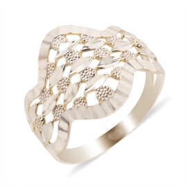 Close Out Deal 9K Yellow Gold Diamond Cut Ring
