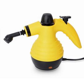 Multi-Purpose High-Pressure Steam Cleaner with Nine Accessories - Yellow and Black