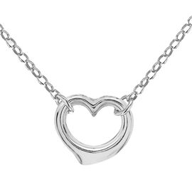 Hatton Garden Close Out - Sterling Silver Belcher Necklace (Size 16.5) with Open Heart