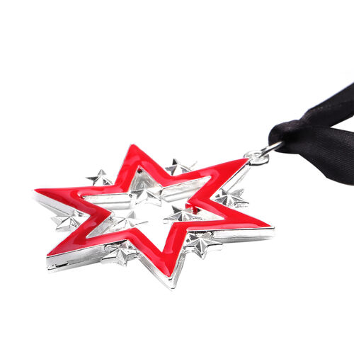 RACHEL GALLEY - Star Enamelled Charm in Silver Tone