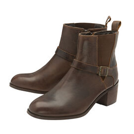 Ravel Brown Kingsley Leather Heeled Ankle Boots