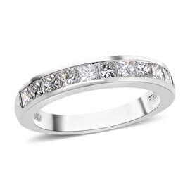 RHAPSODY 950 Platinum IGI Certified Diamond (Princess Cut) (VS/E-F) Half Eternity Band Ring 1.000 Ct