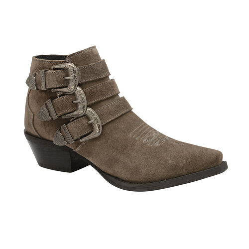 Ravel Taupe Black Colville Suede Ankle Boots (Size 3)