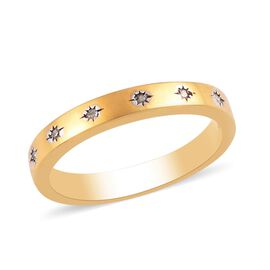 Diamond (Rnd) Band Ring in 14K Gold Overlay Sterling Silver