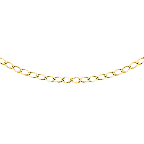 Close Out Deal Curb Chain Necklace in 9K Yellow Gold 20 Inch