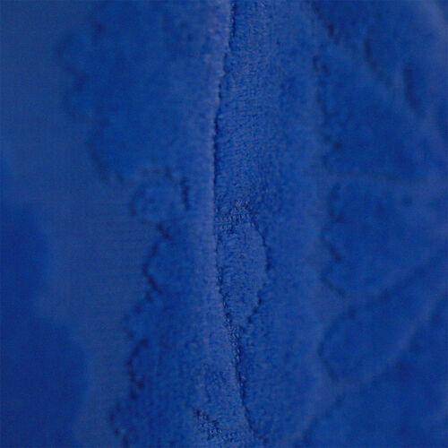 Luxury Edition - Set of 2 - 100% Cotton 500 GSM Velour Sculpted Towel in Provence Blue Colour (Hand 50x90 cm Bath 70x140 cm)