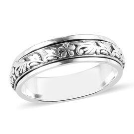 Sterling Silver Stackable Floral Vine Ring, Silver wt 5.90 Gms