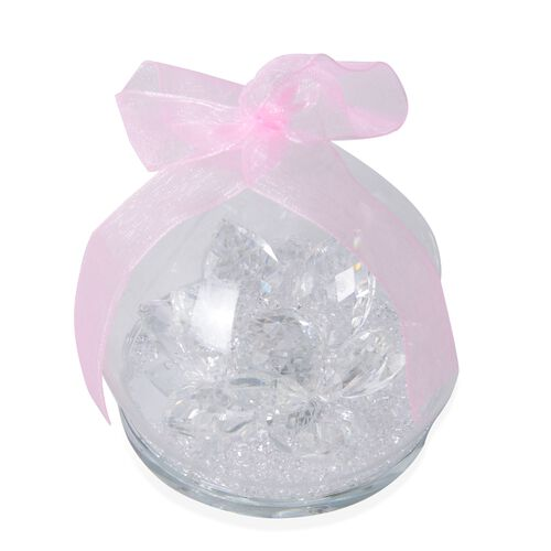 Crystal Ball Decorations - Lotus (Size 8 Cm)
