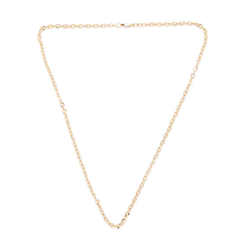 Royal Bali Collection Rolo Necklace in 9K Yellow Gold 18 Inch