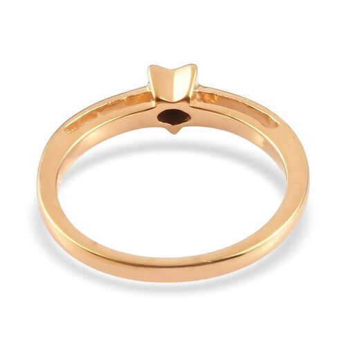 Diamond Star Stacker Ring in 14K Gold Overlay Sterling Silver