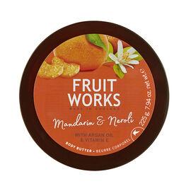FruitWorks: Mandarin & Neroli Body Butter (With Argan Oil & Vitamin E) - 225g