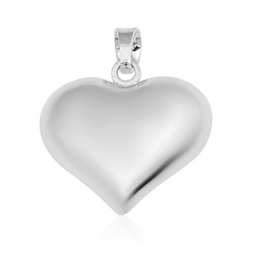 Vicenza Collection Heart Pendant in 9K White Gold