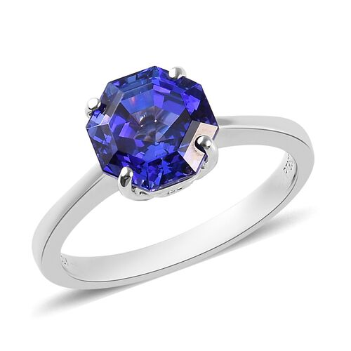 Signature Collection RHAPSODY 2.76 Ct AAAA Tanzanite Solitaire Ring in 950 Platinum