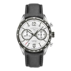 ROAMER Swiss Movement Water Resistant Watch in Stainless Steel with Chronograph Display and Black Co