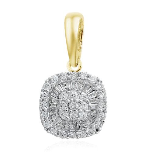 ILIANA 18K Yellow Gold IGI Certified Diamond (Rnd) (SI/G-H) Pendant 0.500 Ct.