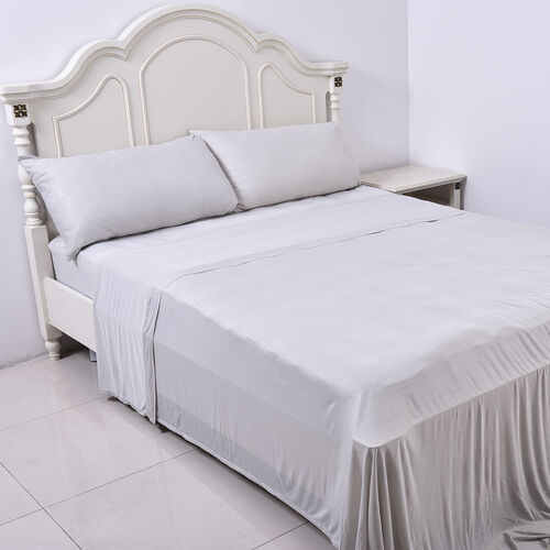 4 Piece Set - Cooling 1 Flat sheet (275x265cm), 1 Fitted Sheet (150x200+30cm) and 2 Pillowcases (50x