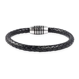 Genuine Braided Leather Bracelet (Size 7.75)