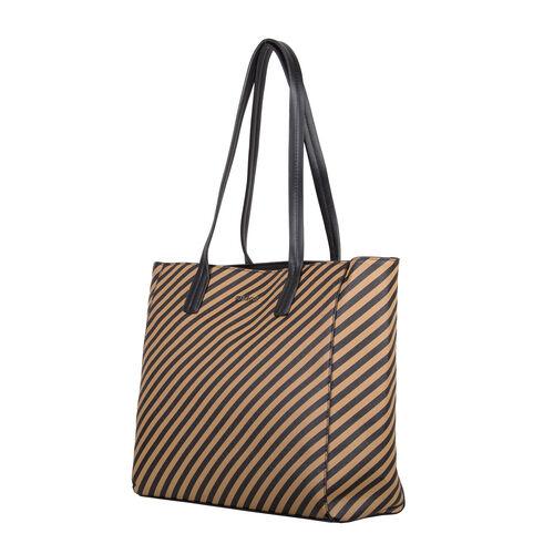 Bulaggi Collection - Sissy Stripe Pattern Shopping Bag (Size 33x30x10cm) - Camel