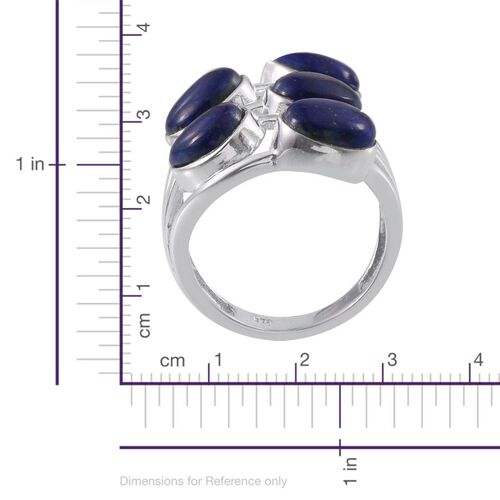 Lapis Lazuli (Pear) Ring in Platinum Overlay Sterling Silver 9.000 Ct.