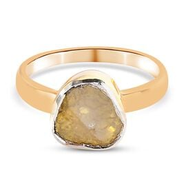 Canary Yellow Diamond  Ring in 14K Gold Overlay Sterling Silver 0.50 Ct.