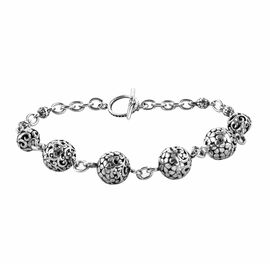 Royal Bali Collection Sterling Silver Bracelet (Size 7.5), Silver wt 10.20 Gms