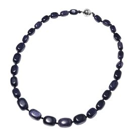 One Time Deal- Blue Sandstone Bead Necklace (Size 20) with Magnetic Lock.