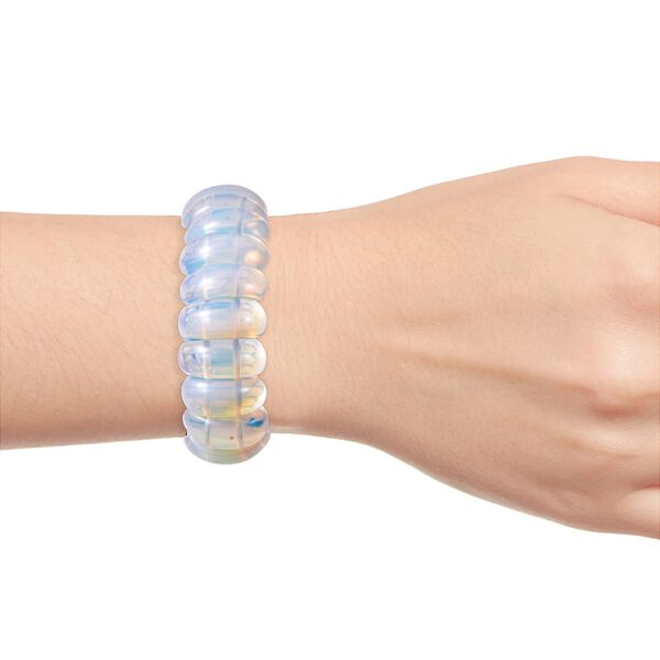 Opalite (Cush) Stretchable Bracelet (Size 7) 294.00 Ct.