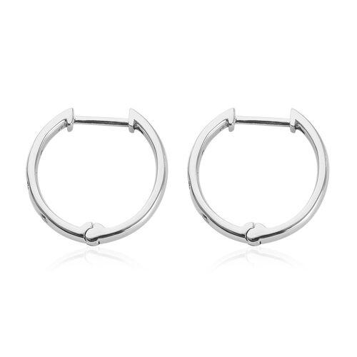 RHAPSODY 950 Platinum IGI Certified Diamond (VS/E-F) Hoop Earrings (with Clasp Lock) 0.15 Ct, Platinum wt. 6.00 Gms