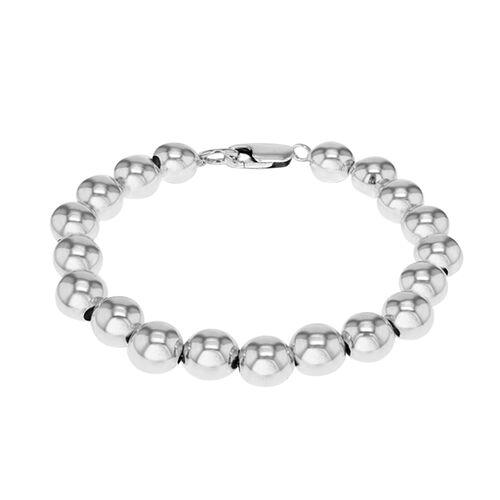 New York Designer Close Out Deal -Sterling Silver Ball Bracelet (Size 8), Sliver Wt. 15.40 Gms