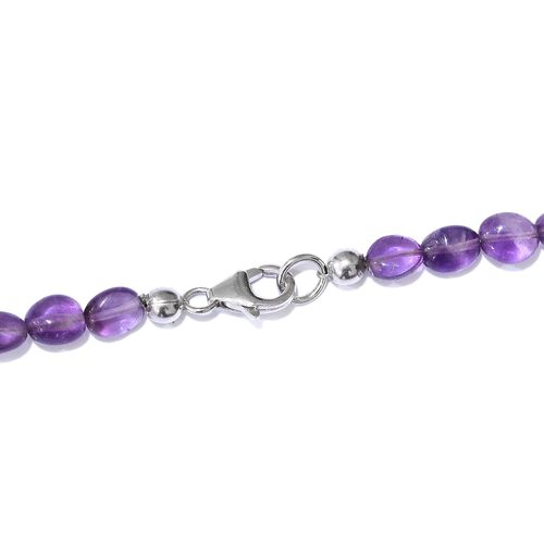 Amethyst Necklace (Size 18) in Platinum Overlay Sterling Silver 68.800 Ct.