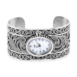 Royal Bali Collection - EON 1962 Swiss Movement Water Resistant Filigree Cuff Watch (Size 7.25) in S