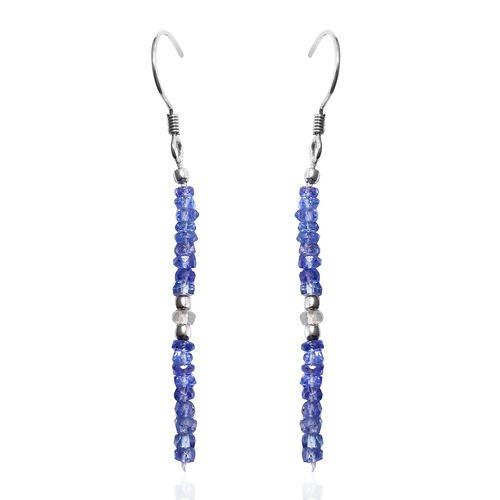 One Time Mega Deal - Tanzanite and Ethiopian Opal Hook Earrings in Platinum Overlay Sterling Silver 4.240 Ct.