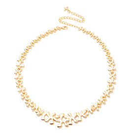 LucyQ Splash Necklace (Size 20) in Yellow Gold Overlay Sterling Silver, Silver wt 42.15 Gms