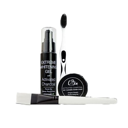 CB&CO: Teeth Whitening Activated Charcoal 4 Piece Set
